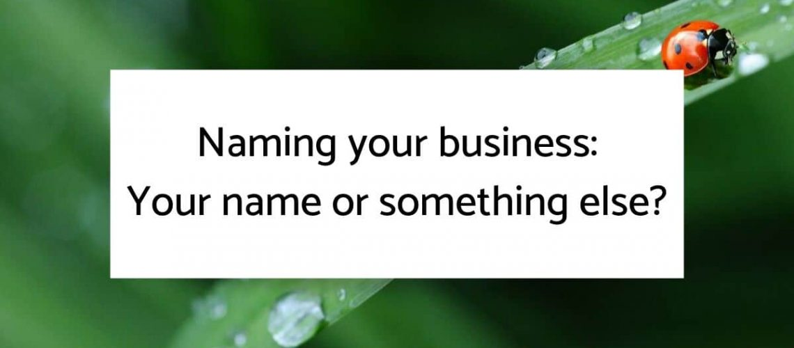 Naming your business blog heading