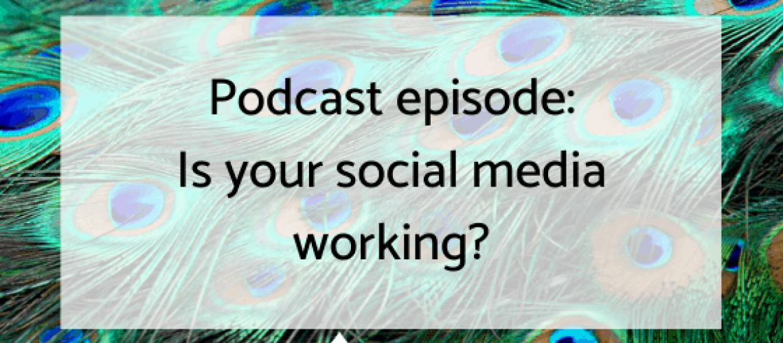 Podcast graphic social media working